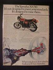 OLD JAPAN JAPANESE YAMAHA MOTORCYCLE MOTOR BIKE ART PRINT AD~ORIG VINTAGE 1977
