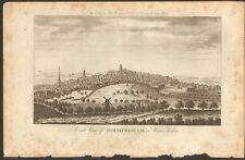 More details for 1779 ca antique print- warwickshire - east view of birmingham