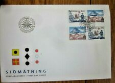 SWEDEN HYDROGRAPHIC SERVICE 4 STAMP 1993 SET  FDC