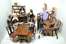 Super Set Furniture for Dolls 1/6 FR Barbie Bar Pub Diorama OOAK HQ wood