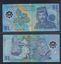 Banknote - Brunei Polymer 1 Ringgit Banknote paper money  (#146A/B/C/D)  XF