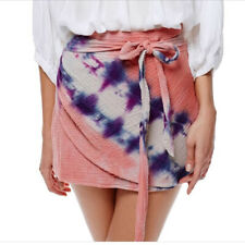 Free People Womens When The Tide Turn OB568238 Skirt Mini Pink Multi Size US 4