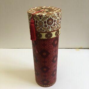 Punch Studio Pasteboard Cylinder Storage Tube, Decorative, Red