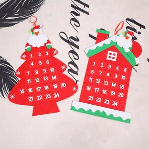 Christmas Santa Claus Calendar Countdown Non-woven New Year Decorations YI