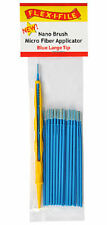 Flex-I-File Nano Brushes With Applicator Handle 24 Brushes Blue Large Tip