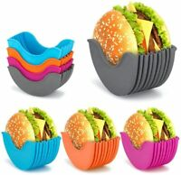 Burger Holder Burger Buddy Fixed Box Hygienic Reusable Hamburger Silicone Shell