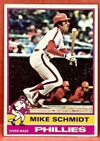 MIKE SCHMIDT 1976 TOPPS BASEBALL CARD #480 - PHILLIES