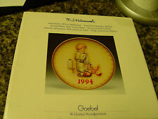 1994 Doctor - With Box 24thEdditon Hummel Annual Plate-Goebel Tmk-7