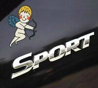 3D Silver SPORT Logo Car Sticker Sport Emblem Side Fender Rear Trunk Badge New