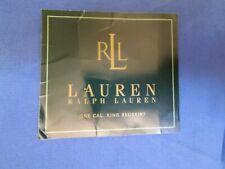 New Ralph Lauren Beachside Preppy Royal Blue Canvas California King Bed Skirt