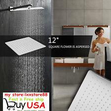 12'' Square Stainless Steel Rain Shower Head Rainfall Bathroom Top Sprayer New L