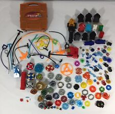 Beyblade 137 Piece Lot Arenas Spinners Ripcords Launchers Cards Carrying Case