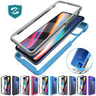 For Motorola Moto One 5G/Ace 2021 Case Clear Cover W/Built-In Screen Protector