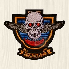 Cabal Logo Embroidered Patch Arcade Videogame Taito TAD Army Skull with Wings