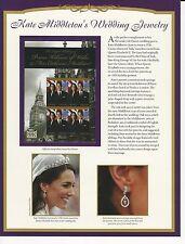 Kate Middleton's Wedding Jewerly 3 Panels Ret. $35.70 (LR752)