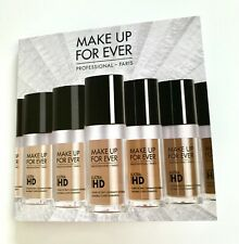 MAKE UP FOR EVER Ultra HD Invisible Cover Foundation-4 Sample Card 0.08oz/2.5ml