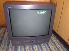 "Retro Gaming Sony Trinitron 20""Crt Color Tv Television 20Tr23 1994 Works Fine"