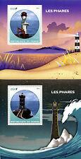 Congo 2016 MNH Lighthouses 2x 1v S/S Kermorvan Yeongdeok Lighthouse Stamps