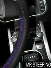 FOR LEXUS LS 400 1995-00 TRUE LEATHER STEERING WHEEL COVER PURPLE DOUBLE STITCH