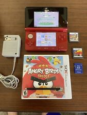 Nintendo 3DS Red W/ 3 Games + Charger + 2gb Memory Card - EXCELLENT