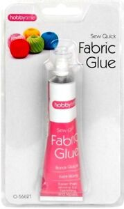 EXTRA STRONG FABRIC TEXTILE ADHESIVE 50ML GLUE HEMMING CRAFT PATCHING TOOL
