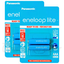 4 x Panasonic eneloop LITE AAA 550mAh batteries Ni-MH Rechargeable HR03 BK-4LCCE