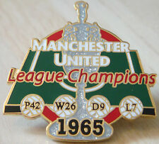 MANCHESTER UNITED Victory Pins 1965 LEAGUE CHAMPIONS Badge Danbury Mint