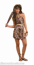 STONE AGE STYLE CAVE BEAUTY CAVE WOMAN ADULT HALLOWEEN COSTUME SIZE STANDARD