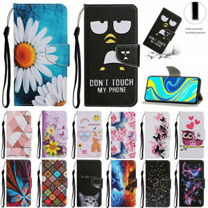For Samsung A11 A21S A31 A41 A51 A71 Painted Wallet Flip Leather Stand Case Skin
