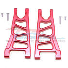 GPM Racing Aluminum Front Lower Arms Red : 4x4 Granite / Big Rock