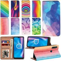 Watercolor Smart Stand Phone Card Cover Fit Alcatel 1C / 1S/ 1V/ 3L (2020) Phone