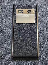 Genuine Vertu Aster Onyx Calf Luxury Phone Android Super RARE Black leather