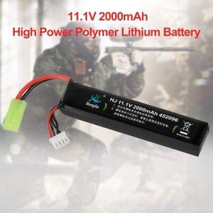 11.1V 2000mAh 30C Airsoft LiPo Battery with Mini Tamiya Connector for Airsoft US