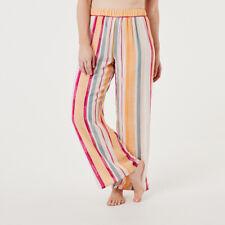 Wide Hem Pants Elastic Waist Wide Leg Viscose Drape and Breath Ability R1..