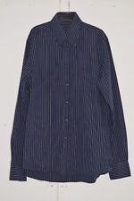Size S Mens TOMMY HILFIGER Striped Shirt Black Blue Ex Condition (240)