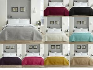 Quilted Bedspread Blanket Bed Throw Runner One Size 150x200 Fits Single Double