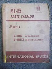 Vintage International Harvester MT-85 L-185 L-1853 Roadliner, Schoolmaster book