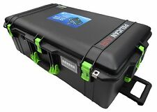 Black & Lime Green Pelican 1615 Air case No Foam.  With wheels.