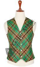 Scottish TARTAN VEST Bias Cut 5 Buttons Formal Kilt Waistcoat Wedding Plaid Vest