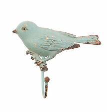 Boudoir Bird Door Hook Wall Hanger Shabby Chic Coat Hooks Duck Egg Sass & Belle