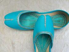 Las señoras de la India Verde Boda Khussa zapatos talla 5