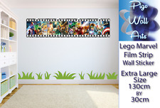 LEGO MARVEL Muro Adesivo camera dei bambini Pellicola fotografica Arte Decalcomanie Parete.
