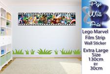 Lego marvel Wall Sticker Kids Bedroom film strip art wall decals.