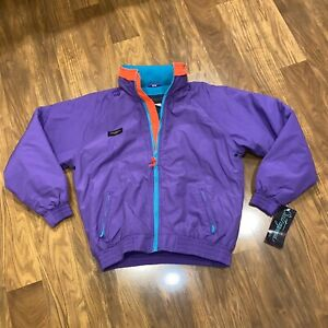 New Vtg 80s 90s Ski Jacket Coat Outrageous Fleece Lined Youth 14 WOMENS SMALL