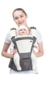 Bebamour Baby Hip Seat Carrier Ergonomic Toddler Dark Grey MISSING SHOULDER PADS