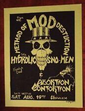 METHOD OF DESTRUCTION (MOD) San Antonio TEXAS (1986) ORIG METAL/Punk Flyer m o d