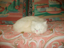 REALISTIC CAT kitten plush fur FURRY ANIMAL REPLICA c306wht FREE SHIPPING USA