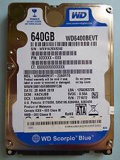 Western Digital WD 6400 bevt - 22a0rt0 | DMC: hacvjbb | 20 mar 2010 | 640 gb #07