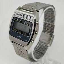 CORVAIR NOS Alarm LCD Quartz Watch Montre neuve de stock ancienn circa 1980