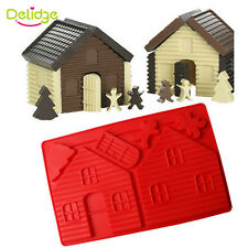 Christmas Gingerbread House Cake Mold Silicone Christmas Series Chocolate Mold